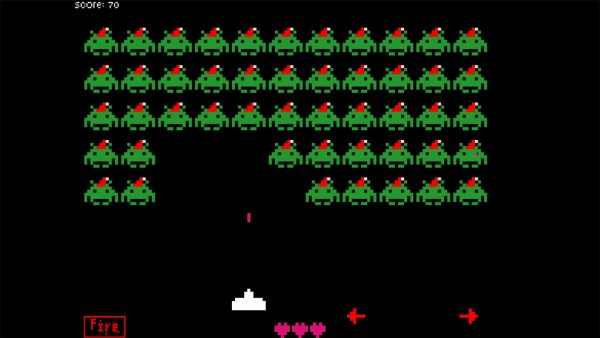 Space Invaders, another classic game made available for flash.