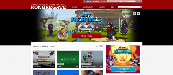 Kongregate, another flash game website. It's also a distributor.