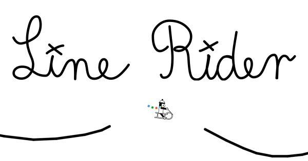Line Rider, an endless runner flash game.