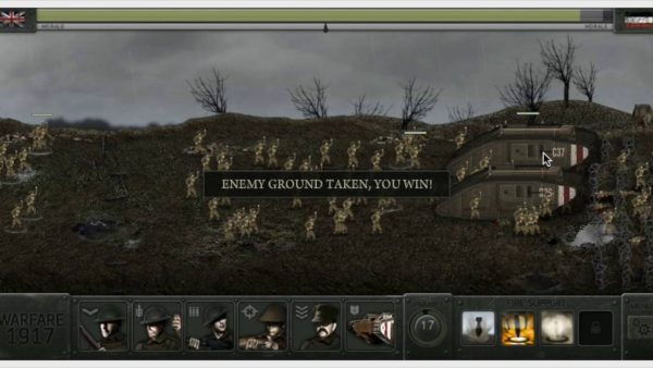 Warfare 1917, a real-time strategy flash game.