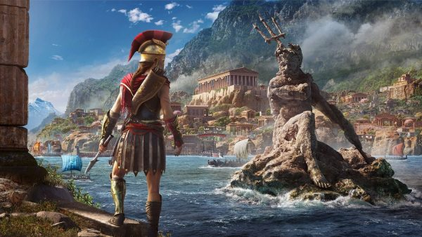 Assassin's Creed Odyssey, one of the many games playable on Google Stadia.