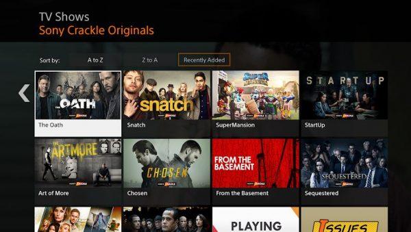 crackle TV shows