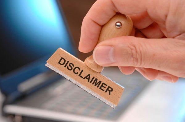 Disclaimer Torrent Sites