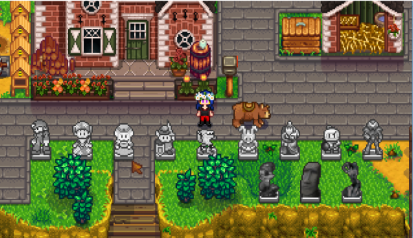Fluffykins' Scarecrow Statues