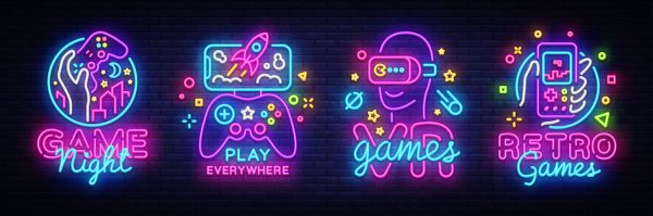 Gaming neon lights