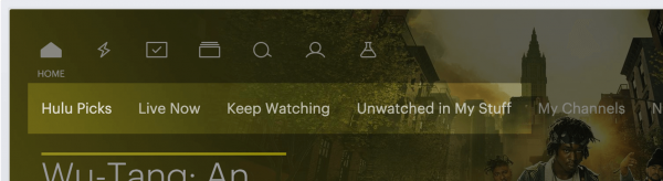 Hulu has an easy access menu for partially watched and unwatched titles.