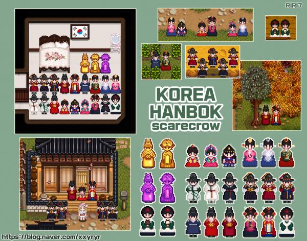 Korea Hanbok Scarecrow