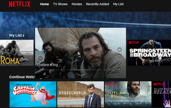 Scroll up and down on Netflix to find your category.