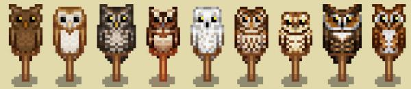 Owl Scarecrows Stardew Valley Mods