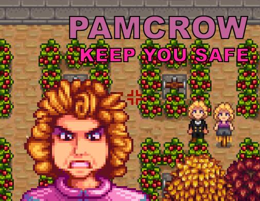 Pam Scarecrow Stardew Valley Mods