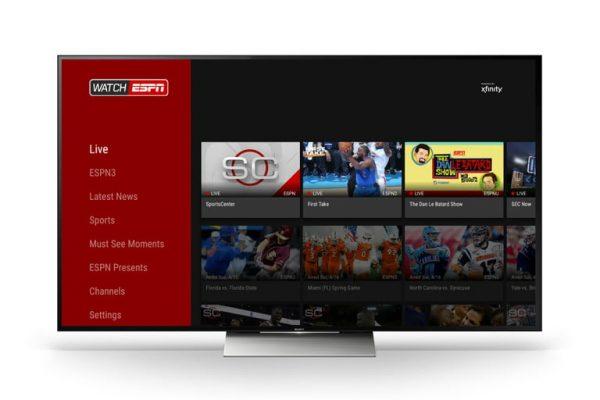 ESPN Online Platform