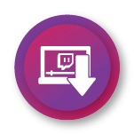 Twitch videos downloading icon