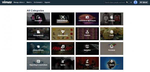 Vimeo on web browswer