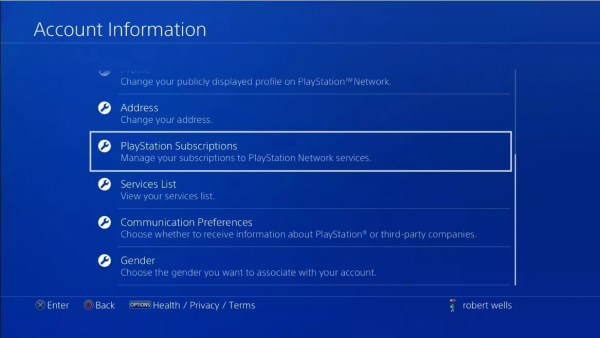 Cancel your Hulu subscription on PlayStation 4.