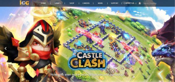 IGG, a game download site for both PC and mobile.