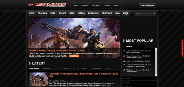 Mega Games, a site where you can download mods and other enhancers for your games.