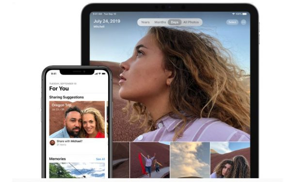 iPad pro and iphone 11 showing portrait photos