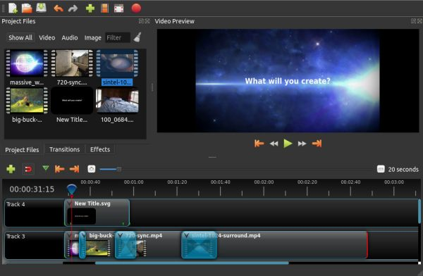OpenShot Video Editor free video editing software