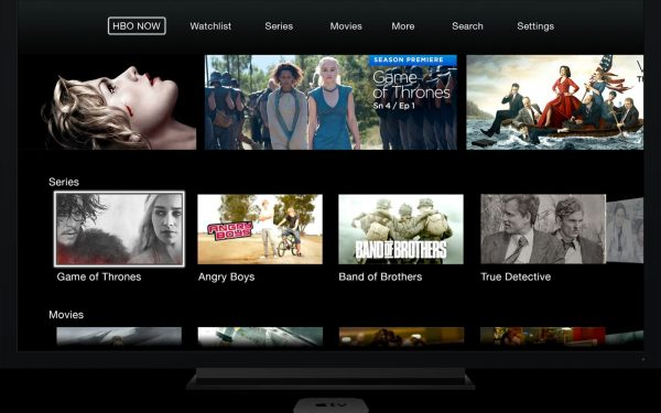 HBO Now User Interface