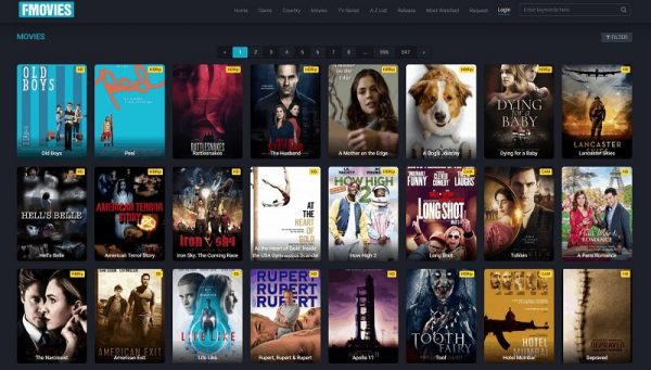 FMovies User Interface