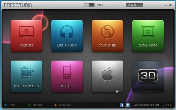 DVDVideoSoft Main Interface