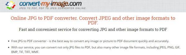Convert Image Online Main Interface