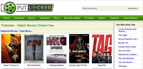 Putlocker User Interface