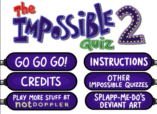 The Impossible Quiz User Interface