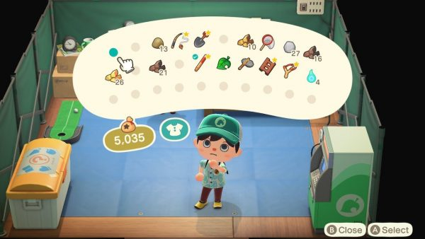 Animal Crossing Upgrading Inventory Space