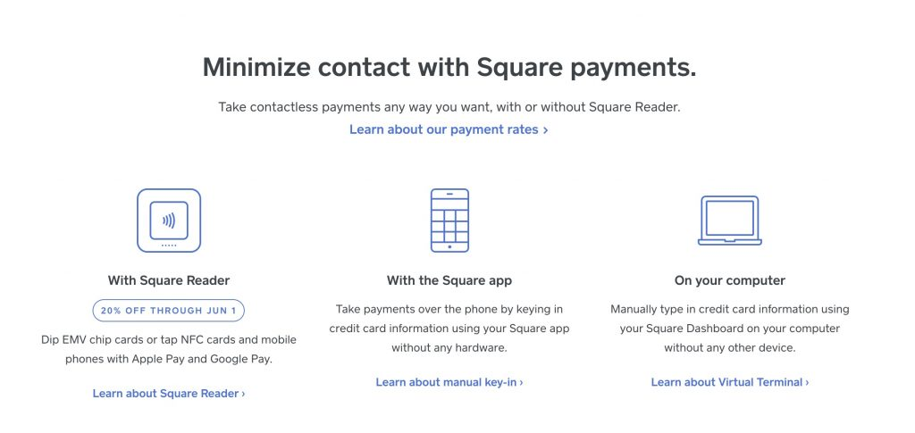 Square online payment