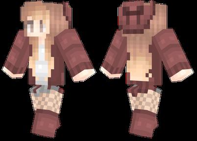 minecraft skin autumn girl