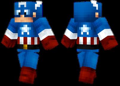 Minecraft skins captain america