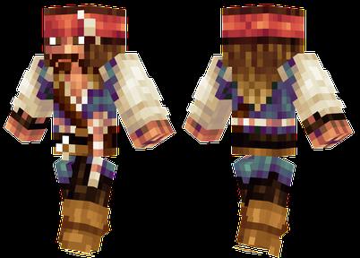 minecraft skins jack sparrow