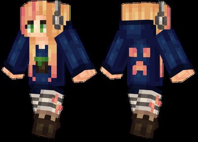 minecraft skins gamer girl