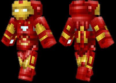 minecraft skins iron man