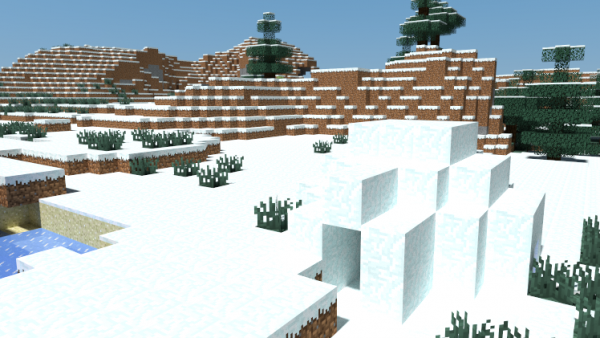 minecraft cheats snow world