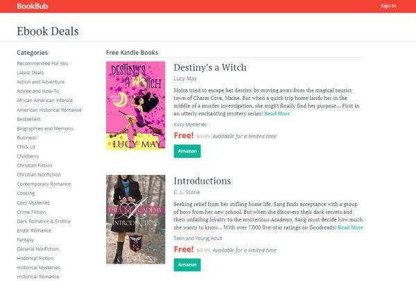 BookBub free kindle books