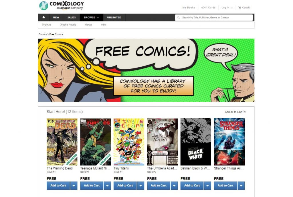 ComiXology read comics online