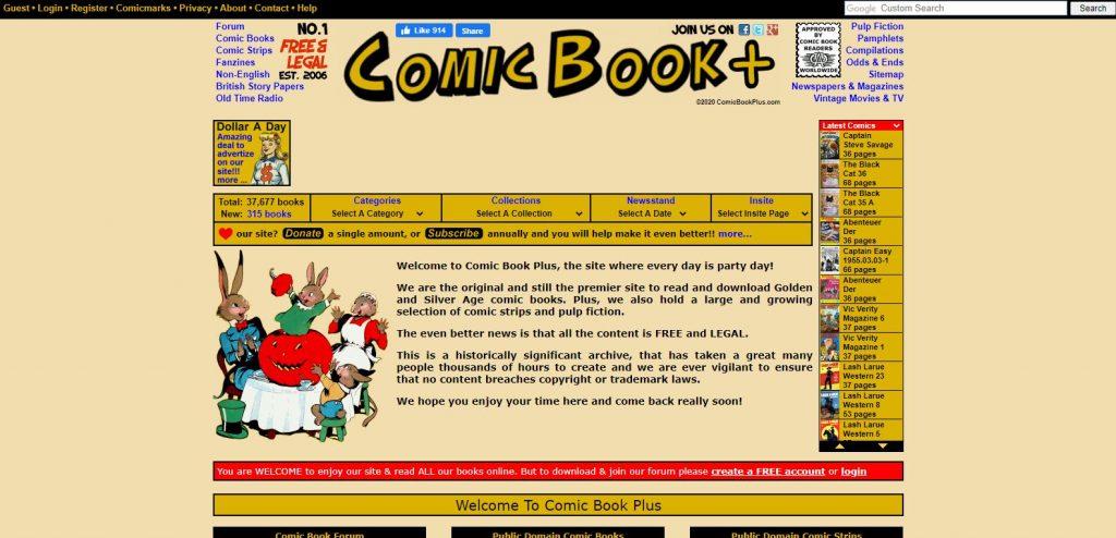 Comic Book Plus read comics online