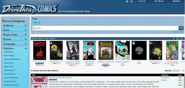 DriveThru Comics read comics online