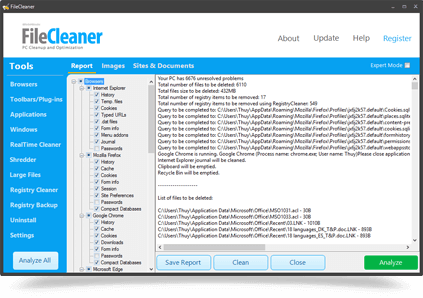 FileCleaner CCleaner alternative
