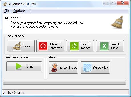KCleaner screen CCleaner alternative
