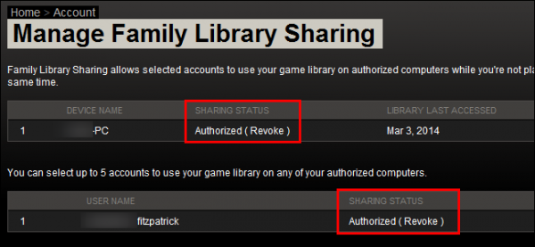 Limitations of Steam Family Sharing