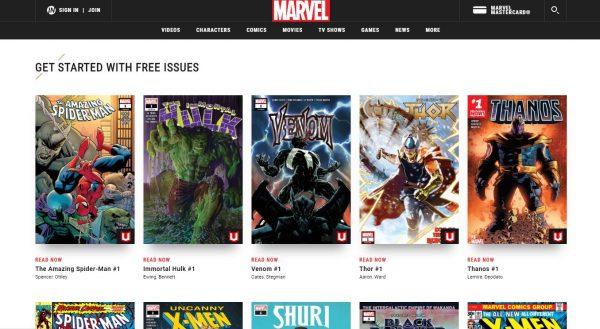 Marvel Unlimited read comics online