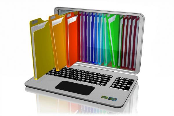Rainbow Folders Vector