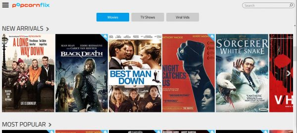 Popcornflix free movie streaming sites