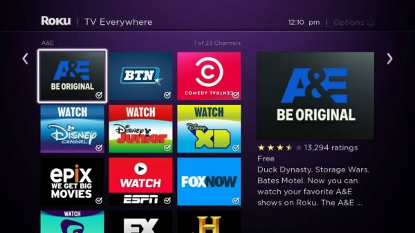 Roku Channels and Apps