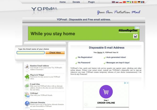 YOPMail, Best Disposable Email