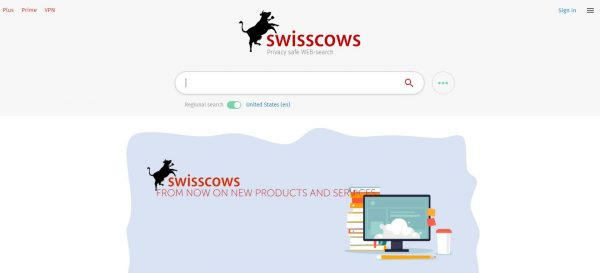 Swisscows search engines