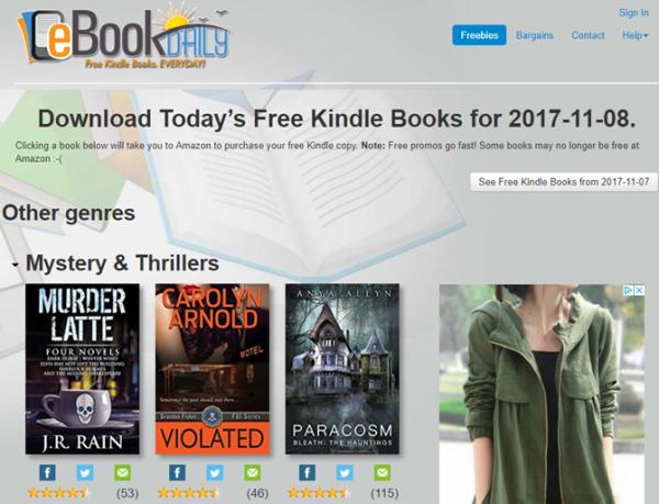 eBookDaily free kindle books